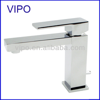 90 Degree chrome one-handle low arc bathroom faucet 9189