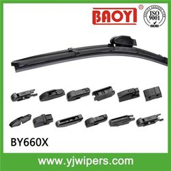 Multi adapters car windshield wiper blade with teflon coating Rubber, Suitable for 99.9% cars