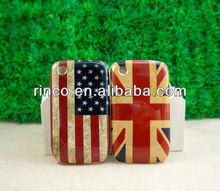 Retro UK & US USA Flag Hard Back Cover Case For BlackBerry Curve 8520 9300