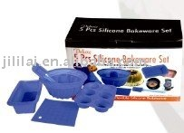5pcs Silicone Bakeware Set- Cooks Evenly, Cools Quickly