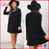 Casual Simple Pattern Of Summer Dress , One Piece Black Mini Dress