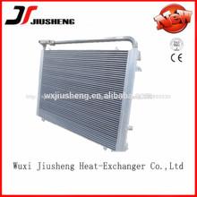 placa de aluminio soldado refrigerado hecho barra del radiador del excavador modificado para requisitos particulares