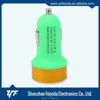 Different Colors 5v dual car charger