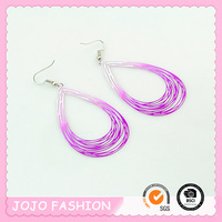 Designed light thin copper wire earrings/