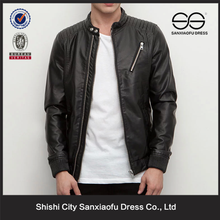 New Arrival Man Leather Jacket Wholesale, Cheap Black Leather Motorcycle Jacket Men