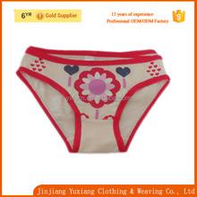 100% polyester stretch fabric girls panties/ girls underwear