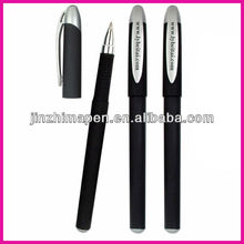 Simple promotional slim plastic rollerball gel pen