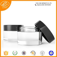 best-selling empty glass acrylic jar cosmetic packaging
