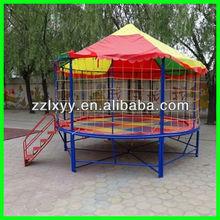 outdoor amusement mini trampoline with net