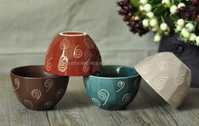 Japanese Ceramic bowl, Unique Printed Ceramic Cereal bow l, High Quality Ceramic round rice bowl with debossed pattern 350ml