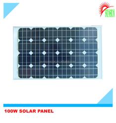 A Grade quality 100 watt 18 volt monocrystalline solar panel