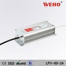 60w waterproof led driver LPV-60-24 220v 24v switch power supply