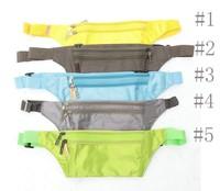 Travel RFID Blocking security waist pouch money card belt bag
