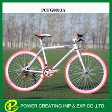 Colourful frame road bike frame sports fixed gear bike 21 speed fixie bike