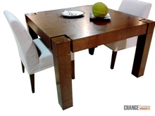 Wood Dining Table Designs Four Chairs in India