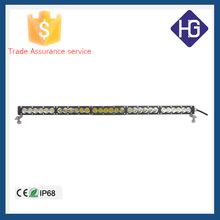 Made in china IP68 25 inch 3W crees bulbs 120W amber/white offroad led light bar for trucks