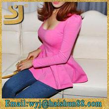 wholesale china importers korea fashion blouses,fancy tunic top