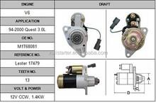 Cheap price engine starter Nissan Quest 3.0L 23300-0b010 starter