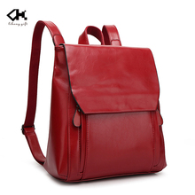 Hot sell backpack for school travel women genuine leather backpack