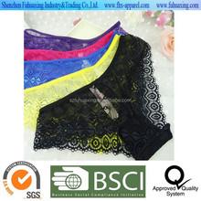 2015 venta caliente del cordón colorido extremo de la señora atractiva caliente transparente panty