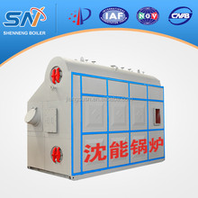 typical double drums longitudinal water-tube oil/gas fired steam boiler