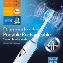 Precision Cleaning RLT204 Many Colors Battery Operated Sonic Rechargeable Head Adult Vibration Automatic Tooth Brushing