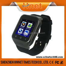 HW-S8 Touch Screen MTK6572 Dual Core 3G WCDMA GPS WIFI BT android hand watch mobile phone