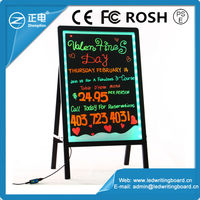Hot Selling ZD Acrylic Drawng Board Aluminum Alloy Frame Electronic Sign Board 90 Flashing Modes LED Glow Board