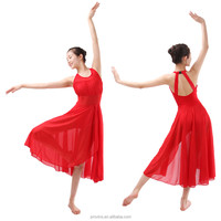 Modern Girls Dance Dresses, Ballet Leotard Long Skirt Attached