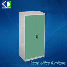 cheap tall thin Two Door Vertical Useful Office Storage Steel Cabinet