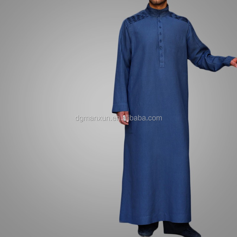 New Arrival Men Robe Muslim Long Thobe Islamic Jubbah1.jpg