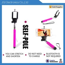 Hot sale Charge-Free volume control audio cable selfie stick
