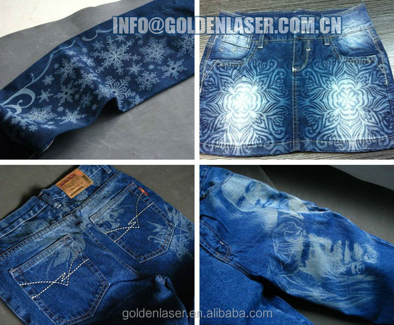 Denim Jeans Laser Engraving Machine For Industrial Laundry