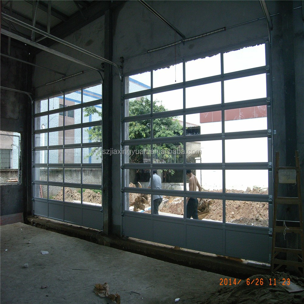 Industrial sliding exterior glass doors aluminum glass for Sliding glass garage doors