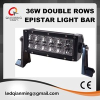7.5inch 36W 4x4 epistar led light bar for car/off road/auto/motorbike with 2 years warranty IP 67