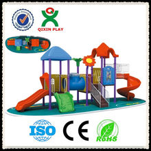 Guangzhou Manufacturer Homemade playground slide, garden slide, cheap outdoor kids park/ QX-066A