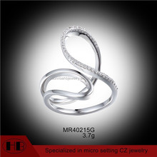 Simple Curve Rings High Polish CZ Curve Rings