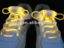 LED LIGHT UP SHOELACES DISCO FLASH LITE GLOW NEON STICK