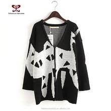 2015 Latest dress designs fashion dress Autumn women's clothing long joker color knit sweater cardigan the cat sweet girls dress