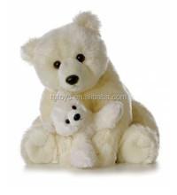 Adorable 12inch snow white polar bear mom and baby plush toys