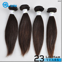 2015 Best Selling leading hair maufacturer Double Weft no shedding 100% natural silky straight wave peruvian hair