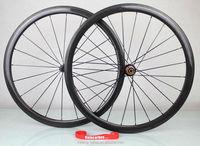 Top quality carbon road bike wheels,38mm Clincher wheels Powerway R13 sh1mano 9/10/11 speed hub