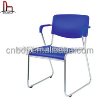 cheap simple style plastic stackable chair with armrest for office,restaurant,living room