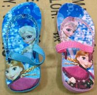 TF-031507200030 newest 2015 children girl rubber slippers adjustment flip flops frozen