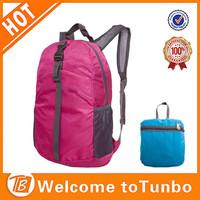 Colorful laptop folding backpack nylon teens custom school bag