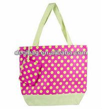 Cute polka dot Tote Bag candy color fashion shoulder hand bag beach bag hot sale
