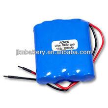 2012 News Li-ion 18650 14.8V 2200mah battery heated blankets