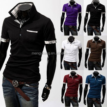 White and Blue Striped Trendy Cotton Pique or PK Polo Shirt for Men