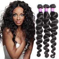 Rosa Queen Hair Products 6A Unprocessed Brazilian Virgin Hair Loose Wave Brazilian Human Hair Weaves 3 Pcs Brazilian Loose Wave