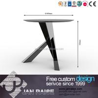 Popular modern unique wood round stone coffee tabless, round stone coffee tables